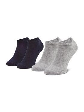 Tommy Hilfiger Tommy Hilfiger Set di 2 paia di calzini corti da uomo 342023001 Grigio