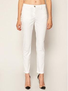 Trussardi Jeans Trussardi Jeans Kalhoty z materiálu Light Gabardine 56P00001 Bílá Regular Fit