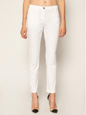 Trussardi Jeans Trussardi Jeans Medžiaginės kelnės Light Gabardine 56P00001 Balta Regular Fit