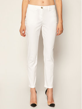 Trussardi Jeans Trussardi Jeans Szövet nadrág Light Gabardine 56P00001 Fehér Regular Fit