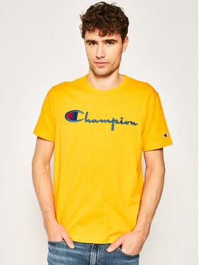 Champion Champion T-Shirt Script Logo Crew 210972 Oranžová Comfort Fit