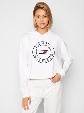 Tommy Hilfiger Tommy Hilfiger Bluza Round Graphic S10S101031 Biały Loose Fit