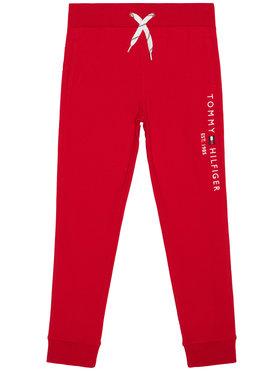 TOMMY HILFIGER TOMMY HILFIGER Teplákové kalhoty Essential KB0KB05864 Červená Regular Fit