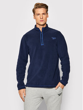 Reebok Reebok Polár kabát Outerwear GR8963 Sötétkék Slim Fit