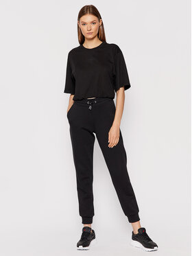Fila Fila T-Shirt Elastic Waist Tee 689000 Czarny Cropped Fit