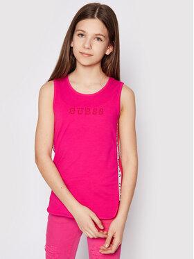 Guess Guess Bluzka J1GI21 K6YW1 Różowy Regular Fit