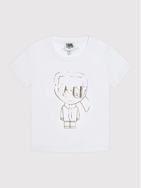 KARL LAGERFELD KARL LAGERFELD T-Shirt Z15330 S Bílá Regular Fit