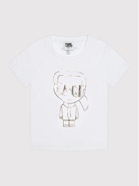 KARL LAGERFELD KARL LAGERFELD T-Shirt Z15330 S Λευκό Regular Fit