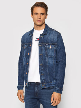 Tommy Jeans Tommy Jeans Džinsinė striukė Trucker DM0DM10841 Tamsiai mėlyna Regular Fit