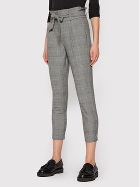 Vero Moda Vero Moda Kalhoty z materiálu Eva 10209834 Šedá Loose Fit