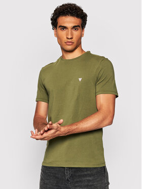 Guess Guess Marškinėliai U1BM00 K6YW1 Žalia Regular Fit