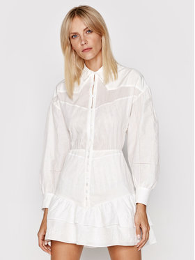 IRO IRO Haljina košulja Josey AO532 Bijela Regular Fit