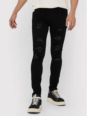 Only & Sons ONLY & SONS Дънки Warp 22018656 Черен Skinny Fit