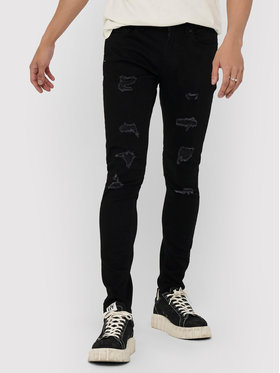 Only & Sons ONLY & SONS Jeansy Warp 22018656 Czarny Skinny Fit