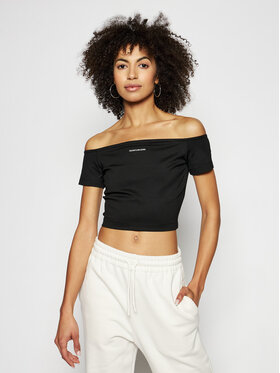 Calvin Klein Jeans Calvin Klein Jeans Blúz J20J215700 Fekete Slim Fit