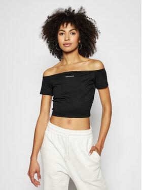 Calvin Klein Jeans Calvin Klein Jeans Bluzka J20J215700 Czarny Slim Fit