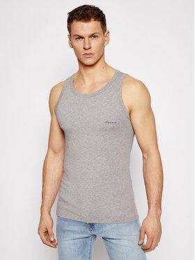 Versace Versace Tank top marškinėliai Grigio Melange AC00058 A1738 AUU04022 Pilka Slim Fit