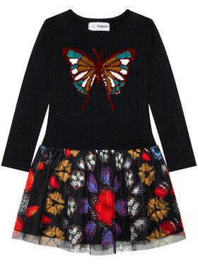 Desigual Desigual Každodenní šaty Kayla 21SGVK38 Černá Regular Fit