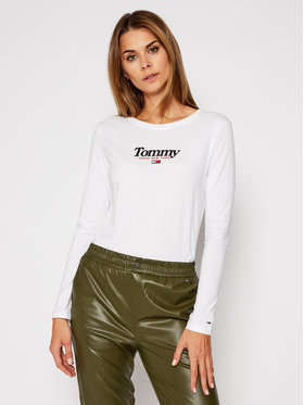 Tommy Jeans Tommy Jeans Блуза Essential Logo DW0DW08941 Бял Regular Fit
