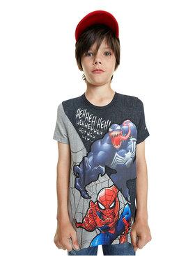 Desigual Desigual T-Shirt Spider 20SBTK16 Černá Regular Fit