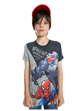 Desigual Desigual T-Shirt Spider 20SBTK16 Schwarz Regular Fit