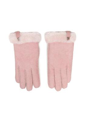 Ugg Ugg Жіночі рукавички W Shorty Glove W Leather Trim 17367 Рожевий