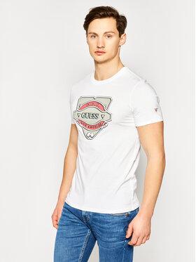 Guess Guess T-shirt Gbc Emblem Tee M0GI46 K8HM0 Blanc Slim Fit
