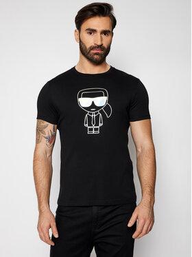 KARL LAGERFELD KARL LAGERFELD T-Shirt Crewneck 755046 511224 Czarny Regular Fit