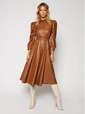 Imperial Imperial Kožené šaty ABDSADGC Hnědá Regular Fit