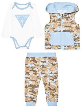 Guess Guess Set body, pantaloni și vestă P1RG07 KA6W0 Colorat Regular Fit