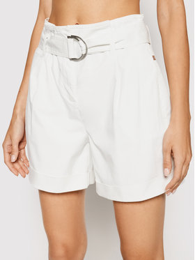 Calvin Klein Calvin Klein Jeans Szorty materiałowe Paperbag K20K202820 Biały Regular Fit