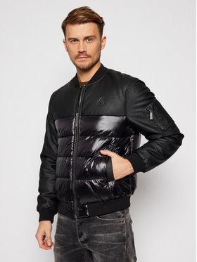 Trussardi Jeans Trussardi Jeans Bomber dzseki Print Nylon Light 52S00467 Fekete Regular Fit
