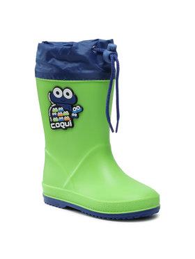 Coqui Coqui Гумени ботуши Rainy Collar 8508-100-1420 Зелен