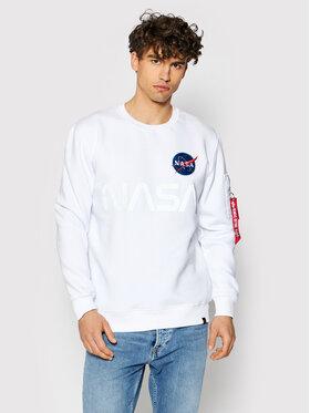 Alpha Industries Alpha Industries Sweatshirt Nasa Reflective 178309 Blanc Regular Fit