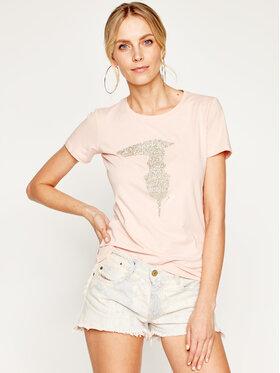 Trussardi Jeans Trussardi Jeans T-shirt 56T00237 Rose Slim Fit