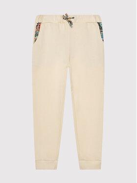 Roxy Roxy Teplákové nohavice Marine Bloom ERGFB03220 Béžová Rekaxed Fit