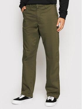 Vans Vans Чино панталони Authentic VN0A5FJB Зелен Loose Fit