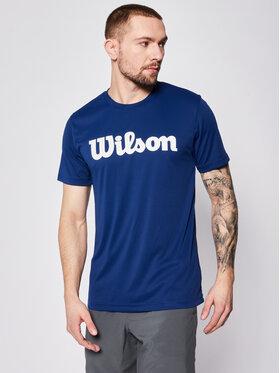 Wilson Wilson Φανελάκι τεχνικό Uwii Script Tech Tee WRA770309 Σκούρο μπλε Regular Fit
