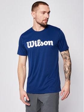 Wilson Wilson Tricou tehnic Uwii Script Tech Tee WRA770309 Bleumarin Regular Fit