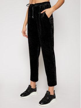 DKNY DKNY Παντελόνι υφασμάτινο P0JKWCOT Μαύρο Regular Fit