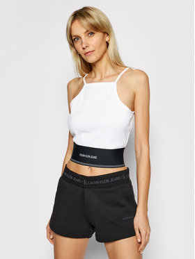 Calvin Klein Jeans Calvin Klein Jeans Top J20J215708 Alb Slim Fit