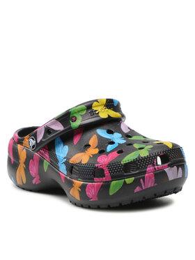 Crocs Crocs Mules / sandales de bain Classic Platform Graphic Clog 207239 Noir