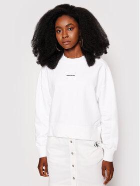Calvin Klein Jeans Calvin Klein Jeans Felpa Essentials J20J215463 Bianco Relaxed Fit