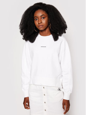 Calvin Klein Jeans Calvin Klein Jeans Mikina Essentials J20J215463 Bílá Relaxed Fit