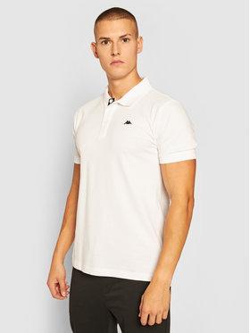 Kappa Kappa Тениска с яка и копчета Hakon 308012 Бял Regular Fit