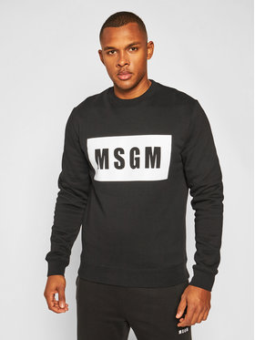 MSGM MSGM Pulóver 2940MM68 207599 Fekete Regular Fit