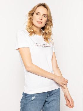 Tommy Hilfiger Tommy Hilfiger T-Shirt Kacy C-Nk WW0WW25892 Λευκό Regular Fit