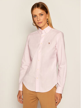Lauren Ralph Lauren Lauren Ralph Lauren Cămașă Polo Bsr 211806181001 Roz Classic Fit