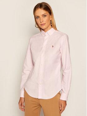 Lauren Ralph Lauren Lauren Ralph Lauren Košile Polo Bsr 211806181001 Růžová Classic Fit