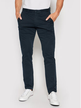 Tommy Hilfiger Tommy Hilfiger Pantalon en tissu Bleecker MW0MW13846 Bleu marine Slim Fit